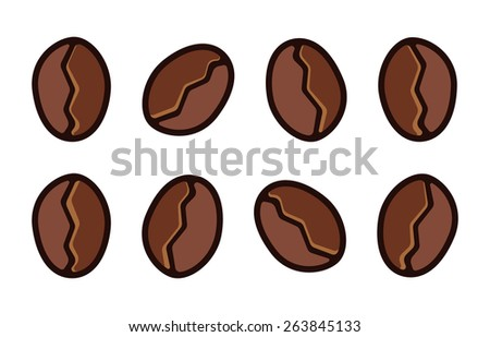 Coffee beans vector isolated
