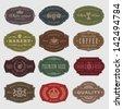 coffee, beer, wine labels - stock vector
