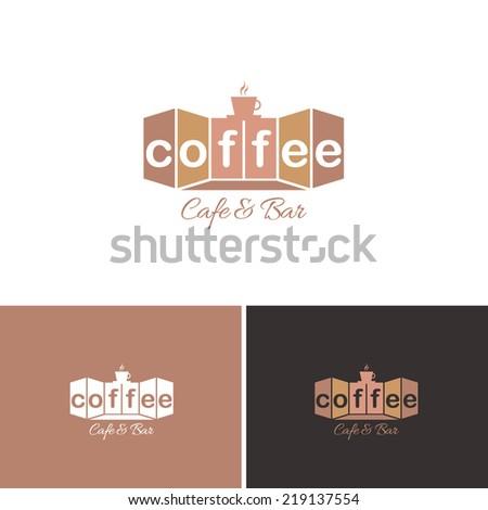 Coffee, Cafe Bar Vector Icons, Logos, Sign, Symbol Template  - stock vector