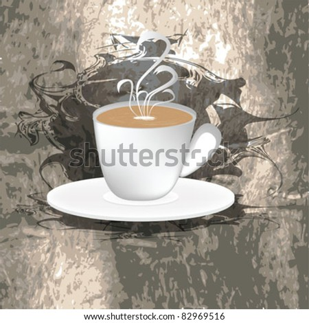 coffee cup background - stock vector