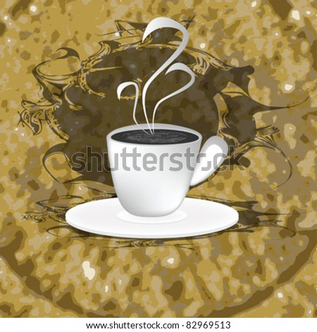 coffee cup background brown