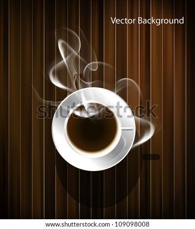 Coffee cup background, vector eps10 - stock vector
