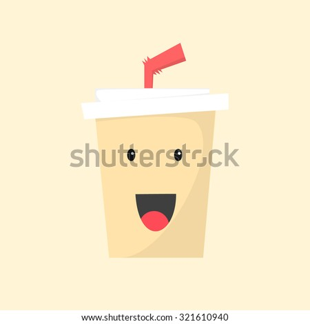 Coffee Cup cartoon charcter - stock vector