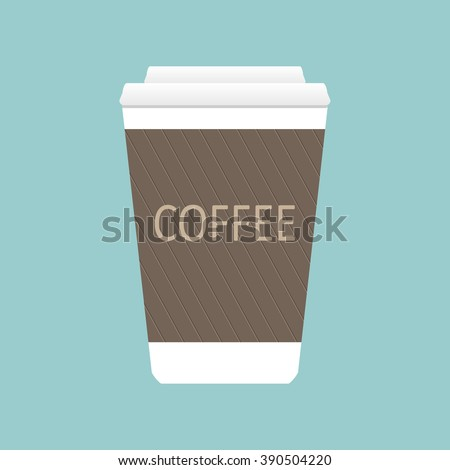 Coffee cup. Coffee cup vector. Coffee cup web. Coffee. Coffee cup vector illustration. Coffee cup icon. Coffee cup isolated on background. Paper coffee cup. Coffee cup in flat style. Coffee cup beans. - stock vector