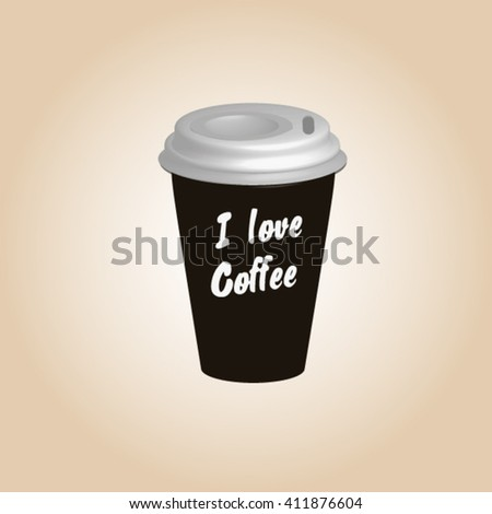 Coffee cup. Coffee cup vector illustration. Coffee cup icon. Coffee cup isolated on background. Paper coffee cup. Coffee cup in flat style. Coffee cup beans.