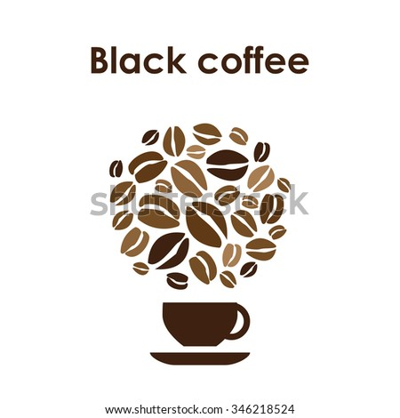 Coffee Cup Design Vector Icon For Shop Or Cafe With