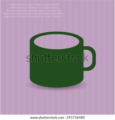 Coffee Cup high quality icon - stock vector
