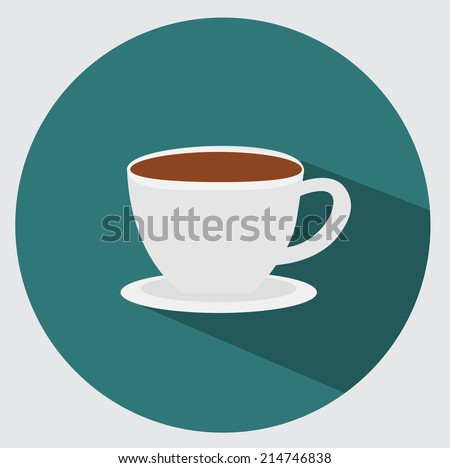 Coffee cup icon - stock vector