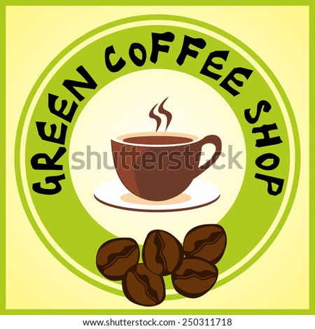 coffee cup icon flat design vector - Illustration