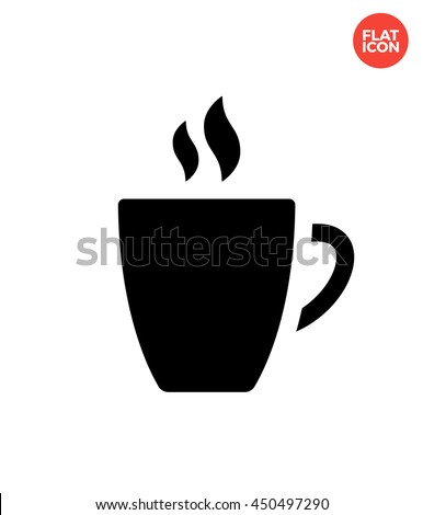 Coffee cup Icon Flat Style. Cup Vector. Mug Isolated Icon. Coffee cup Illustration. Coffee mug Icon. Coffee cup Icon for Apps UI. Coffee Web Icon. Cup with Coffee Icon Template. Coffee Icon Design.