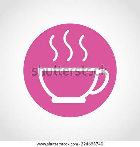 Coffee cup Icon Isolated on White Background - stock vector