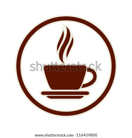 Coffee cup icon, vector. - stock vector