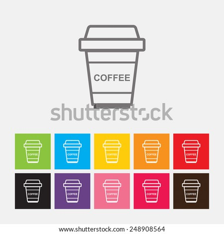 Coffee cup icon - Vector - stock vector