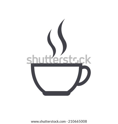 coffee cup icon , vector illustration - stock vector