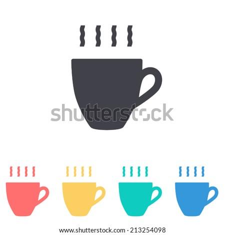 coffee cup icon , vector illustration - stock vector