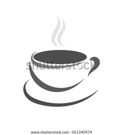 Coffee cup icon. Vector illustration - stock vector