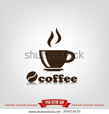 coffee cup icon vector illustration eps10. - stock vector