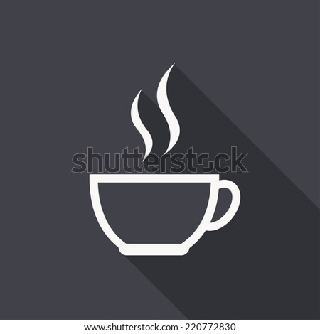 Coffee cup icon , vector illustration , flat design - stock vector