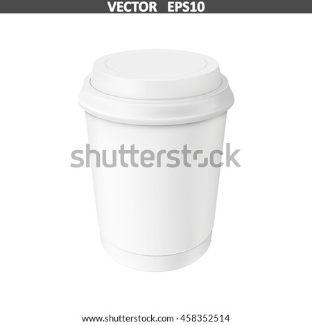 Coffee Cup. Illustration isolated on white background. Graphic concept for your design