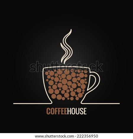 coffee cup menu design background - stock vector