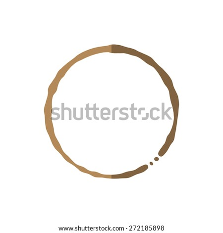 Coffee cup stain on white background vector illustration