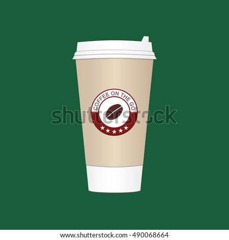 stock vector coffee cup take away paper plastic coffee cup vector illustration coffee cup image coffee cup 490068664 Plastic Coffee Cups Watercolor Coffee In Plastic Cup Stock Vector Image