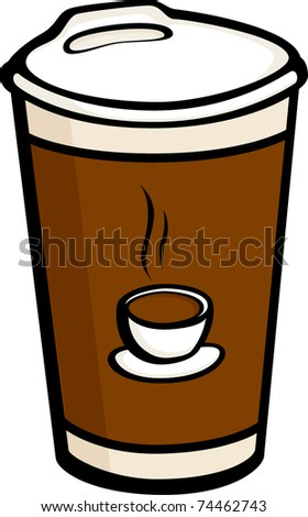 coffee cup to go - stock vector