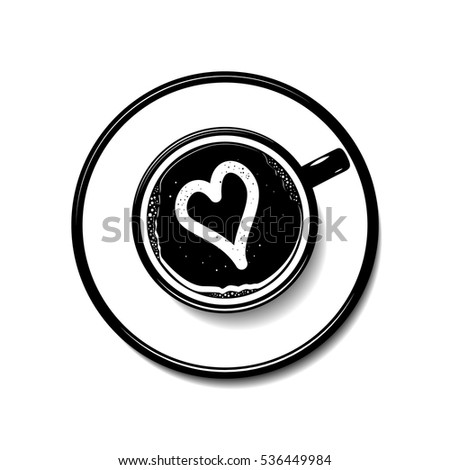 latte art heart stock images royaltyfree images