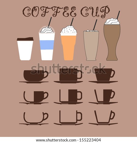 coffee cup vector - stock vector