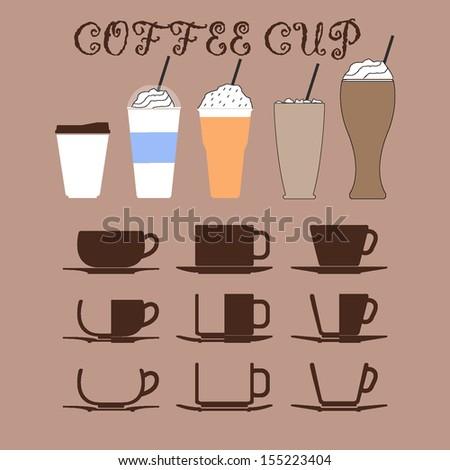 coffee cup vector - stock vector