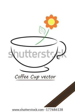 Coffee cup vector design - stock vector