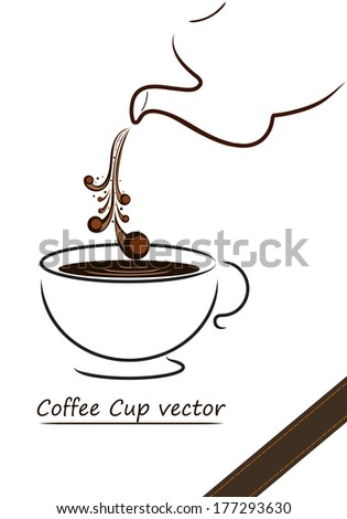 Coffee cup vector design,illustration of coffee cup - stock vector