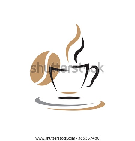 Coffee cup vector design represents restaurant sign and symbol. - stock vector