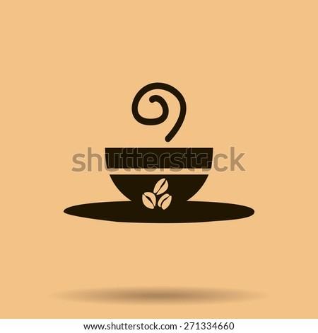 coffee cup vector icon - stock vector