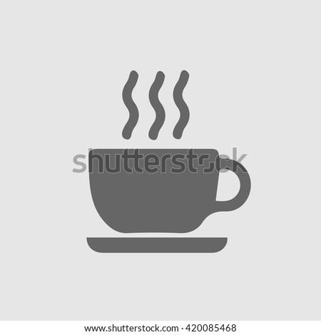 Coffee cup vector icon. Simple vector silhouette. Tea cup simple isolated vector icon. Coffee cup logo. - stock vector