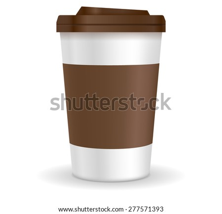 Coffee cup. Vector illustration isolated on white background
