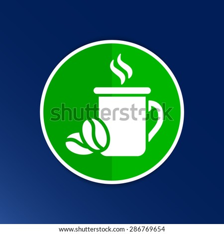 Coffee cup vector logo design template. Cafe shop emblem. - stock vector