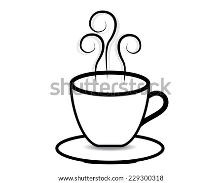 coffee cup vector on white background