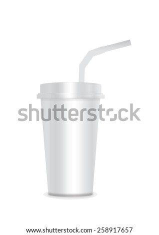 Coffee Cup with Straws vector illustrator