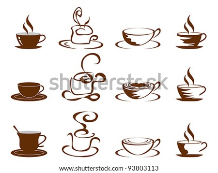 coffee cups icon - stock vector