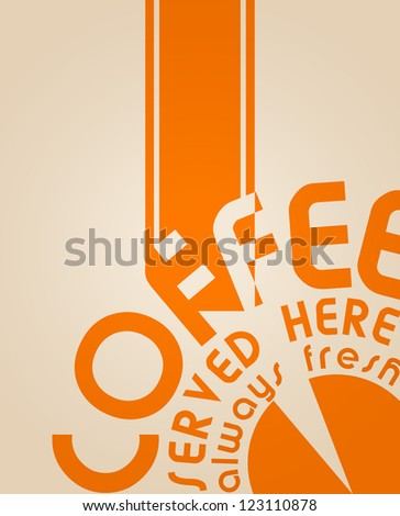 coffee design, background, vintage/retro style - stock vector