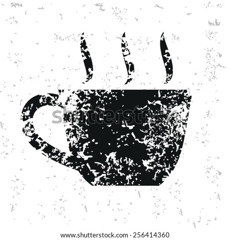 Coffee design on old paper,grunge vector - stock vector