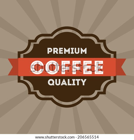 coffee design over gray background vector illustration - stock vector