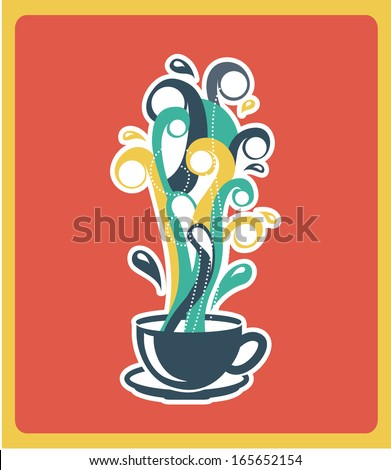 coffee design over pink background vector illustration