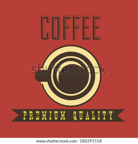 coffee design over red background vector illustration