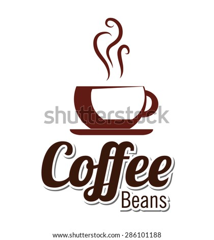 Coffee design over white background, vector illustration.