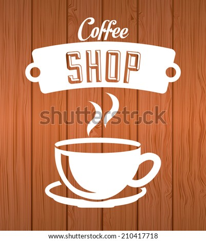 coffee design over wooden  background vector illustration - stock vector