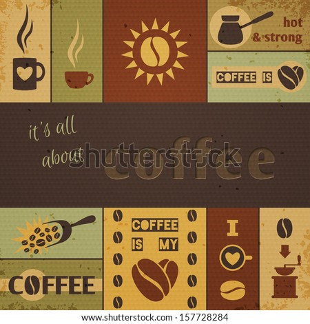 Coffee design set. Vector illustration, eps10. - stock vector