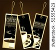 Coffee design tags, vector - stock photo