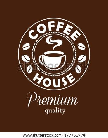 Coffee design template - stock vector